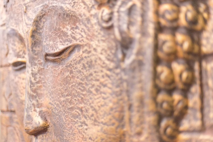 Embossed decorative art of buddha